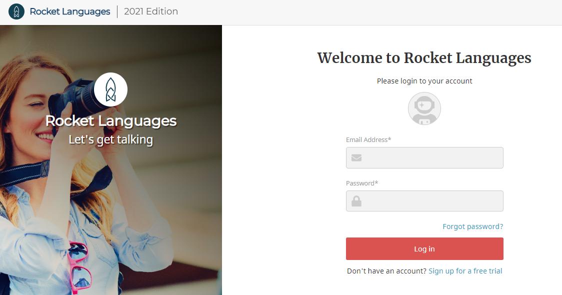 rocket languages login